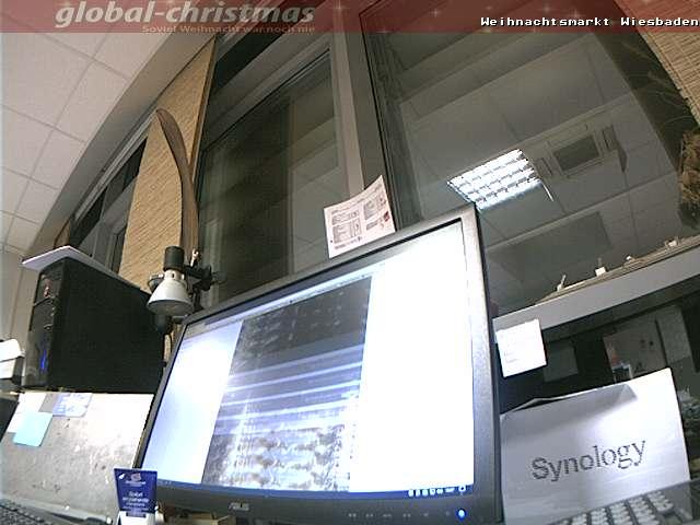 Webcam vom Wiesbadener Weihnachtsmarkt